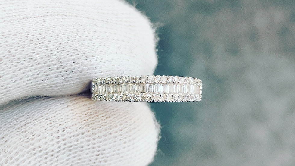 White Gold & Diamond 3 Tier Ring