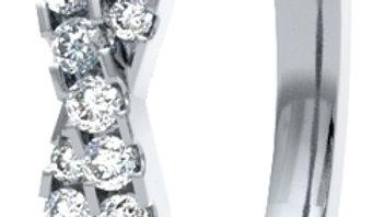 White Gold Twist Claw Set Diamond Band