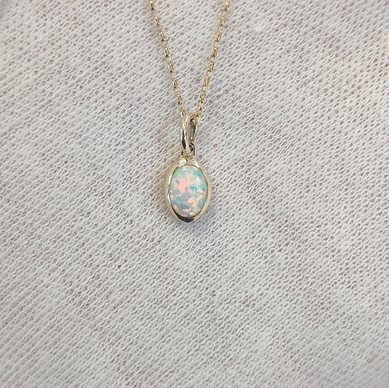 Delicate Gold Opal Necklace