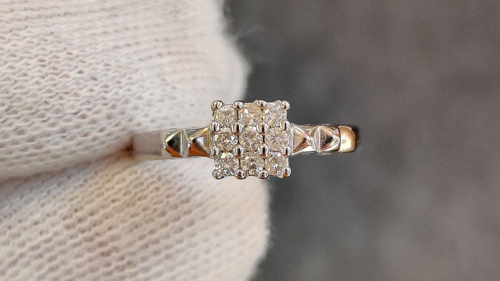 White Gold & Diamond Cluster Ring
