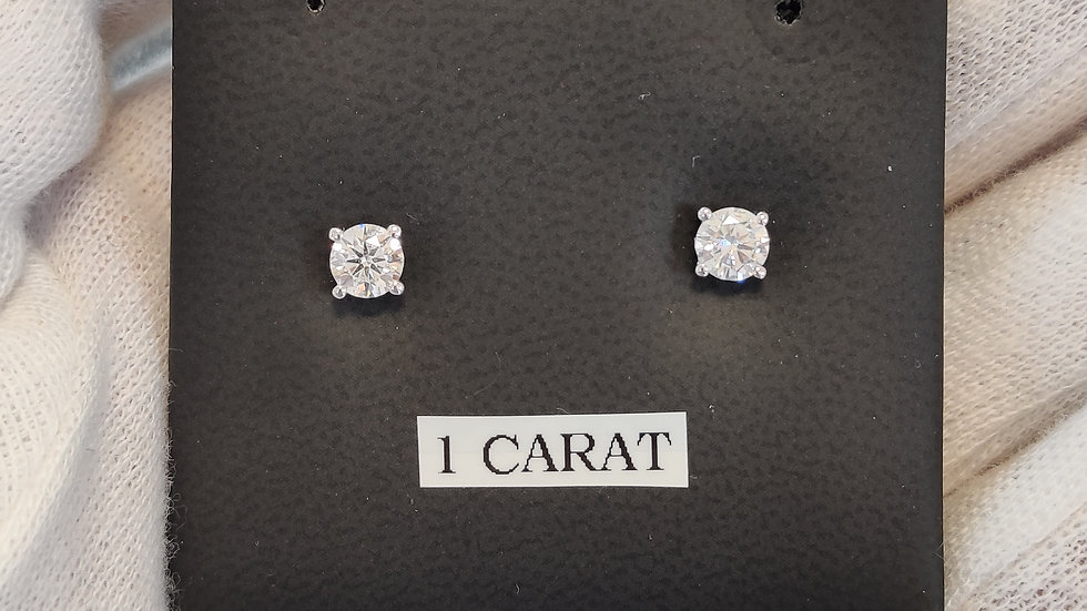 1.00ct Diamond Studs in 18k White Gold