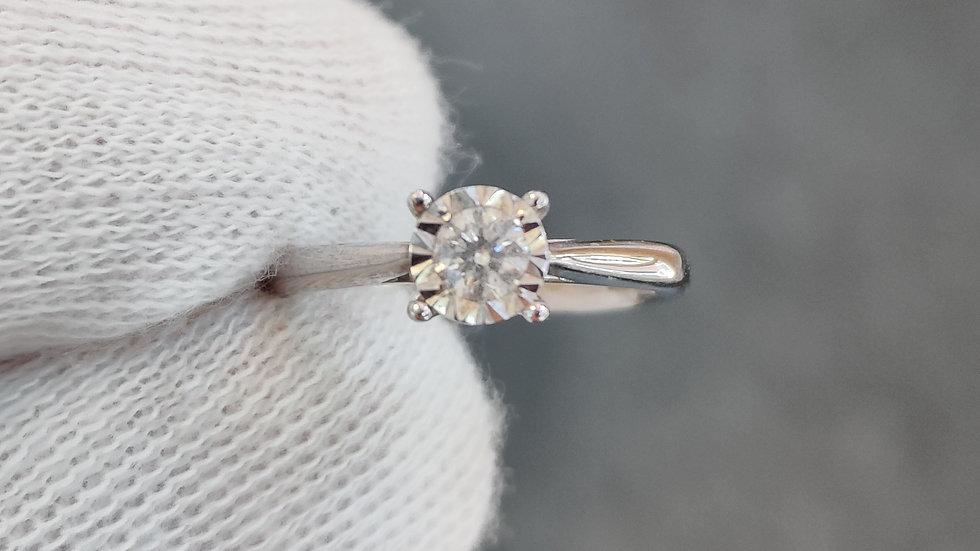 White Gold & Diamond Illusion Ring