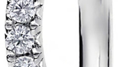 White Gold Wave French Pave Set Diamond Band