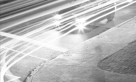 Negro y blanco tráfico
