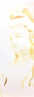 慈悲,是一種臣服。 接受萬物本然,好好對待,智慧善用。   Compassion is surrender to the true nature of every being.   Embrace it with your heart; Use it through your wisdom  原作(水彩)已結緣 Original(Watercolour) is sold for Good Cause.