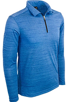 2480-TSJ Men's Long Sleeve 1-4 Zip Tiger
