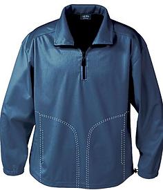 1419-BDJ Men's 1-4 Zip Windshirt w-pocke