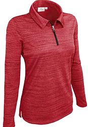 480-TSJ Ladies' LS 1-4 Zip Tiger Stripe