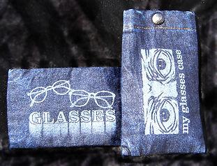 Denim Glasses Case W404 Transfer Imprint