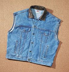 Embossed Denim and Leather Vest W41.jpg