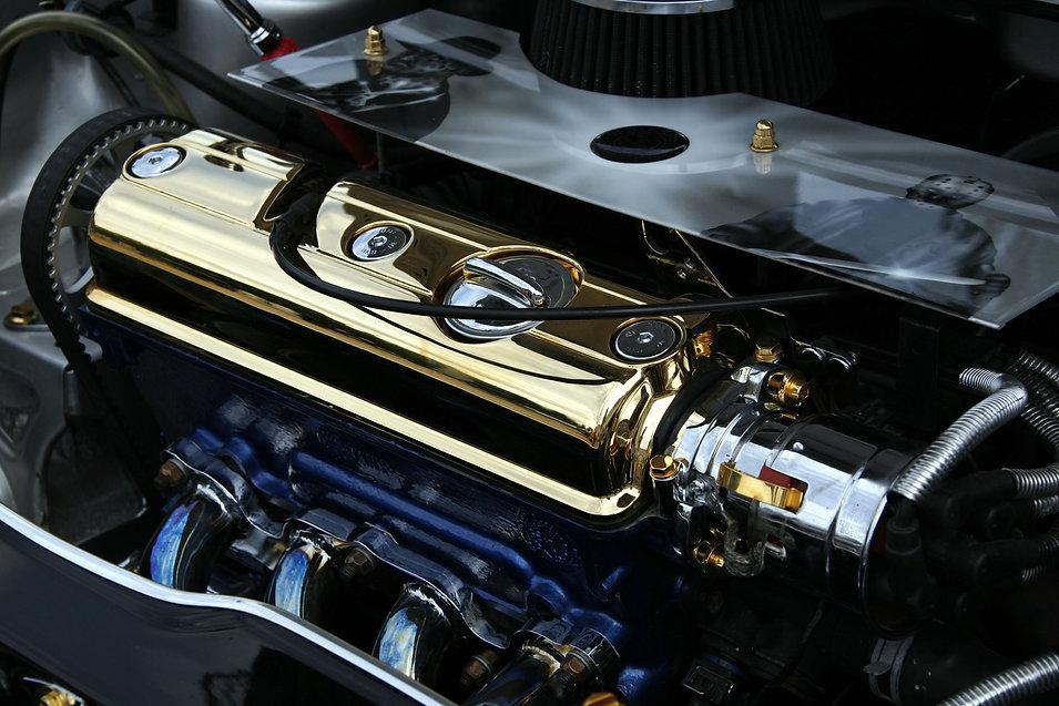 Engine bay chrome plating