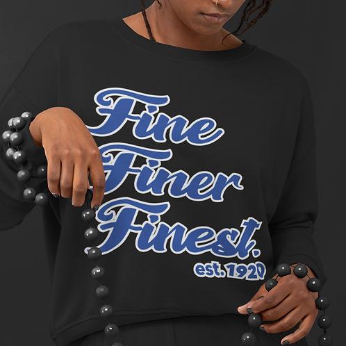 Zeta Fine Finer Finest est.1920  RB &W Black Crewneck Unisex S-3xl Cut Optional