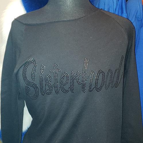 Sisterhood Noir (Black) Nailhead Crewneck Sweatshirt S-3xl