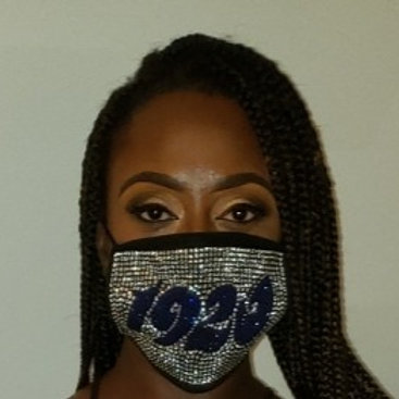 Rhinestone Mask- 1920 ,Soror and Life Member