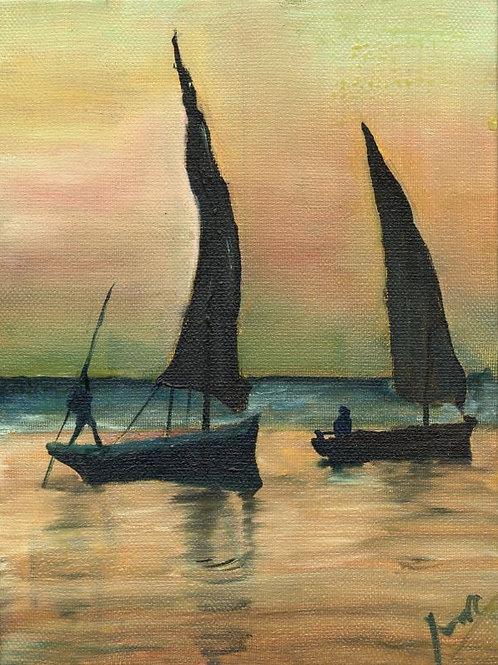 Boat Painting - Sailboats