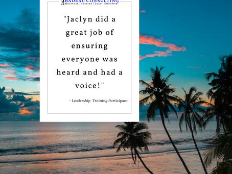 Leadership Training – Everyone was Heard and had a Voice