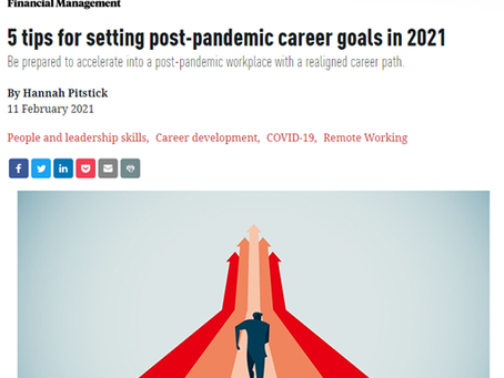 Looking for advice for setting post-pandemic career goals?