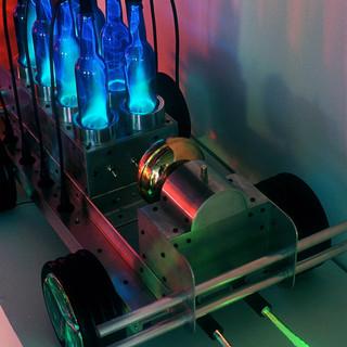 Blue Lightening Party Car