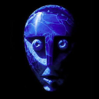 Blue Face - De-Vitrified Bottle Glass