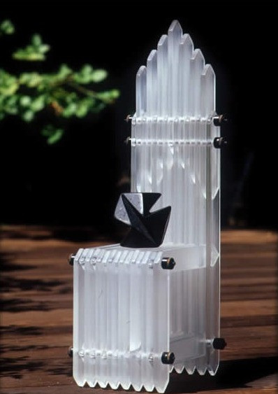 Crystal Cathedral Chair w/ Granite Tchochki