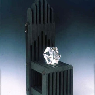 Granite Chair with Crystal Tchochki