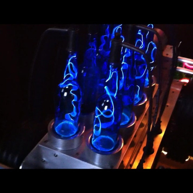Blue Lightning Party Car