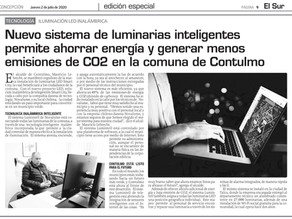 """New system for smart street lighting allows the municipality of Contulmo to save energy..."""