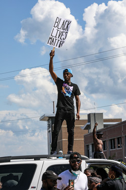 Anti-Police Protest Columbia Police head