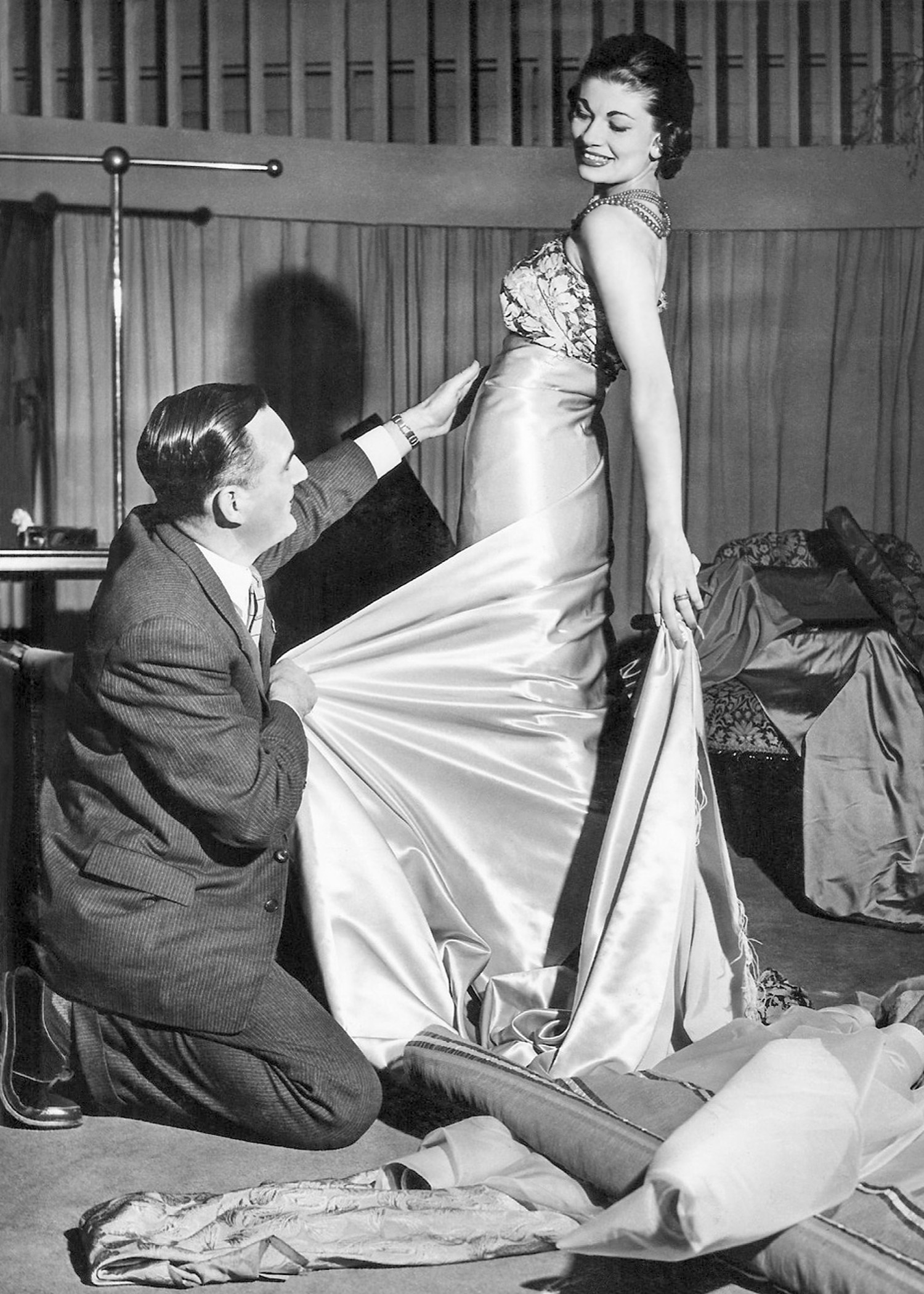 Van Roth stylist C.D.Venn & model Phil Purvis 1956