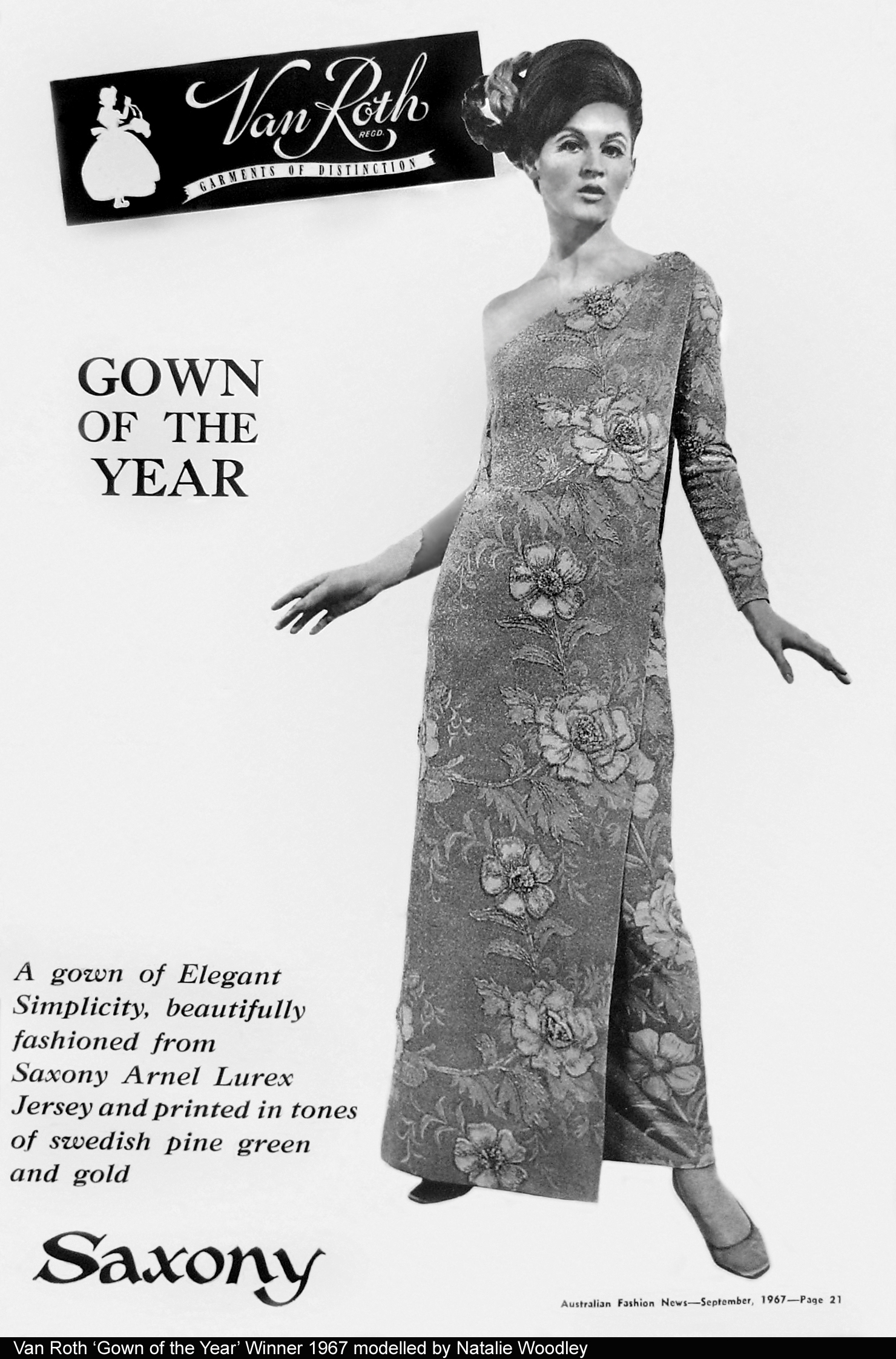 Van Roth Gown of the Year winner 1967