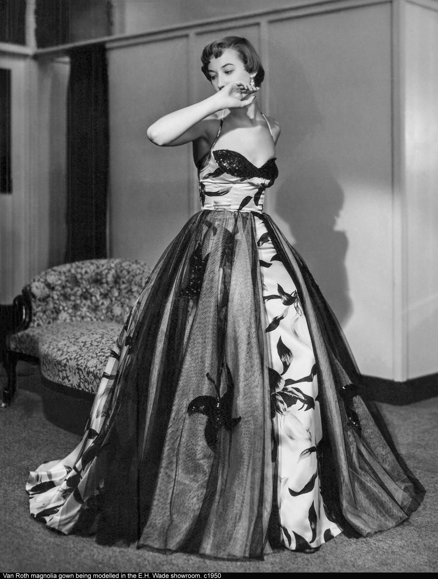 Van Roth Magnolia Gown c1950