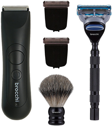 Brocchi Waterproof Body Hair Trimmer + Smooth Shave Kit