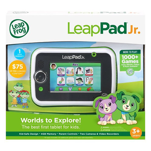 LeapFrog LeapPad Jr. Kid-Safe Tablet Packed With Learning Games and Apps