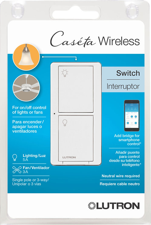 Caseta Wireless Smart Lighting Switch for All Bulb Types or Fans