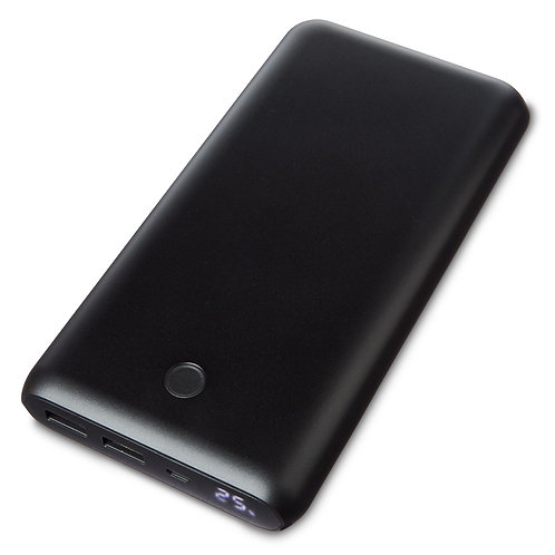 Dual-Port Portable Battery, 6x Charge, 20000 mAh