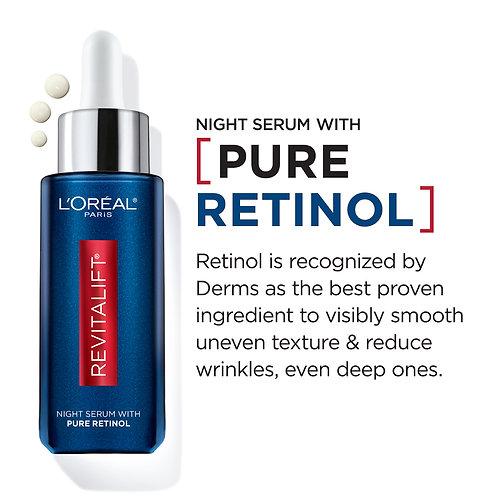 L'Oreal Paris Revitalift Derm Intensives Night Serum, 0.3% Pure Retinol