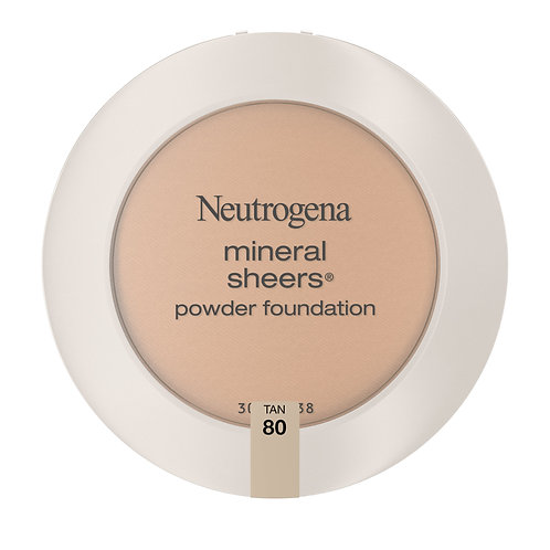 Neutrogena Mineral Sheers Powder Foundation Minimizes Imperfections, 80 Tan .34