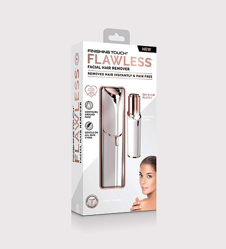 Finishing Touch Flawless Women's Painless Hair Remover , White/Rose Gold