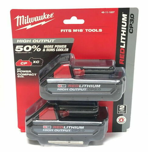 Milwaukee Volt High Output CP3.0 Ah Battery 2 Pack - (Genuine)