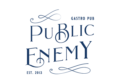 PUBLIC ENEMY - RESTYLING LOGO BLU BIANCO