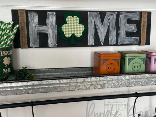 DIY Chalkboard HOME Sign
