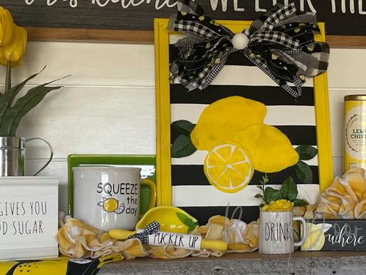 More Lemon Decor Fun