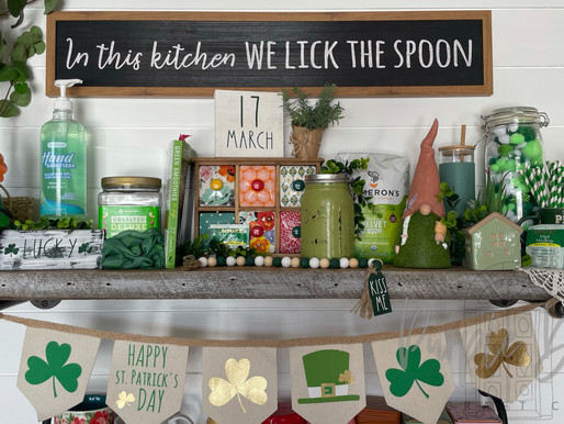 DIY Dollar Tree to St. Patty's Day Sign