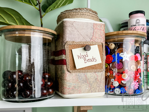 Trash to organized - easy DIY container!