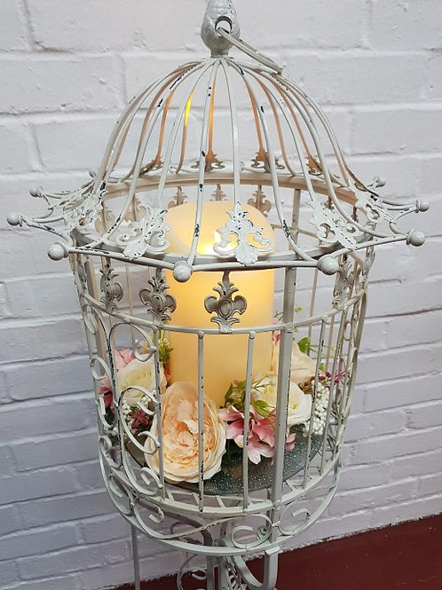 Large Cream Rustic Style Birdcages