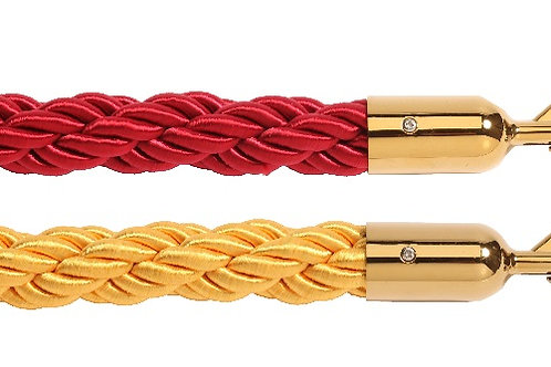 Red or Gold Braided Ropes for VIP Barrier