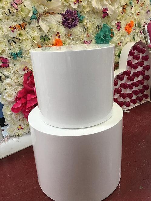 Set of two Round Display Plinths