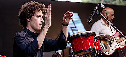 Emmanuel Simon - Freelance percussion artist - performer, composer, teacher - performing at Big Sunday Festival 2015