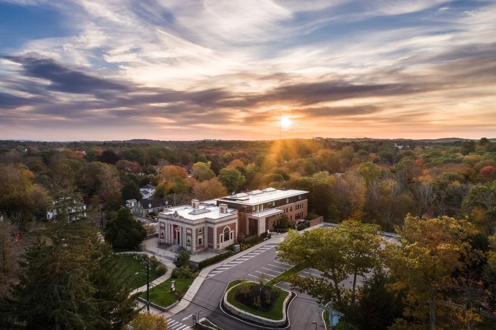Milton Library at Sunrise