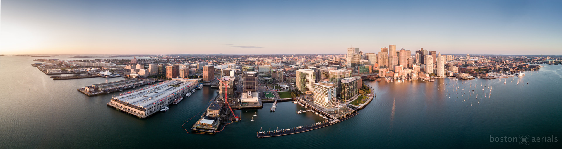Seaport Helicopter Panorama